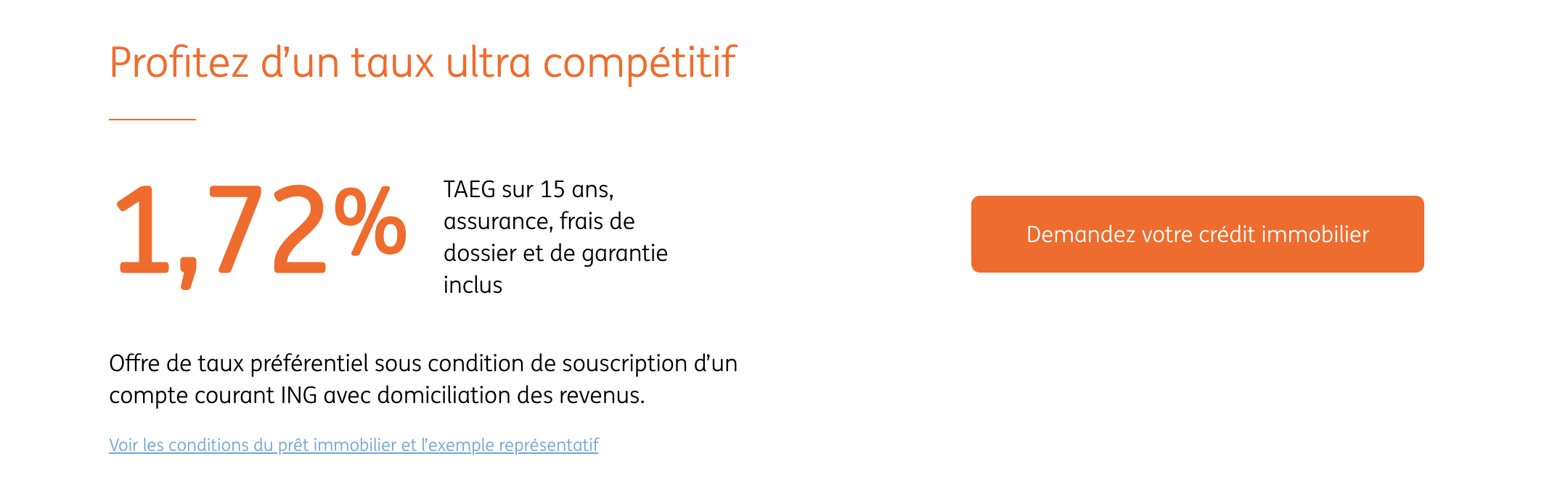 ING DIrect Crédit Immobilier