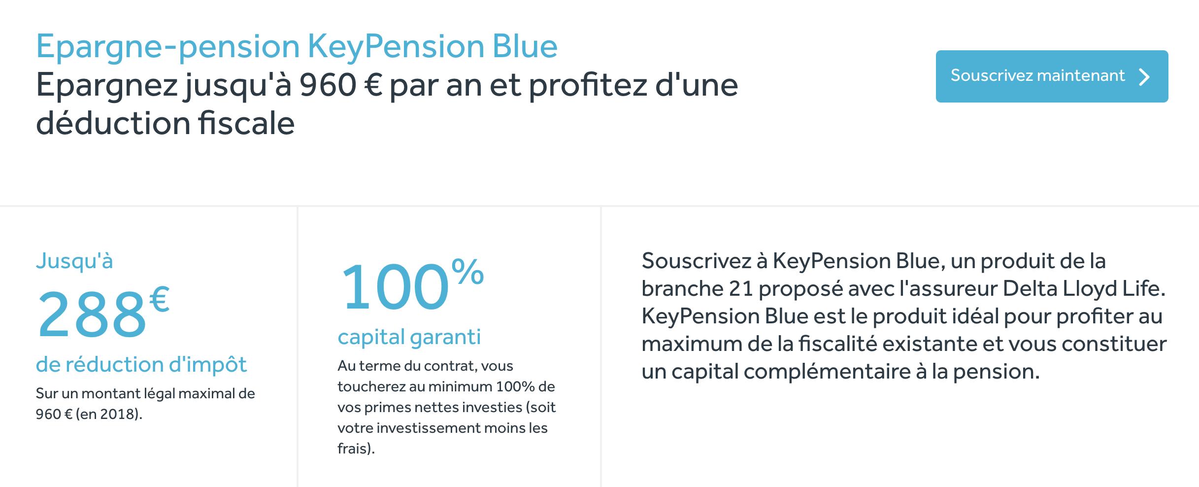 Keytrade pension