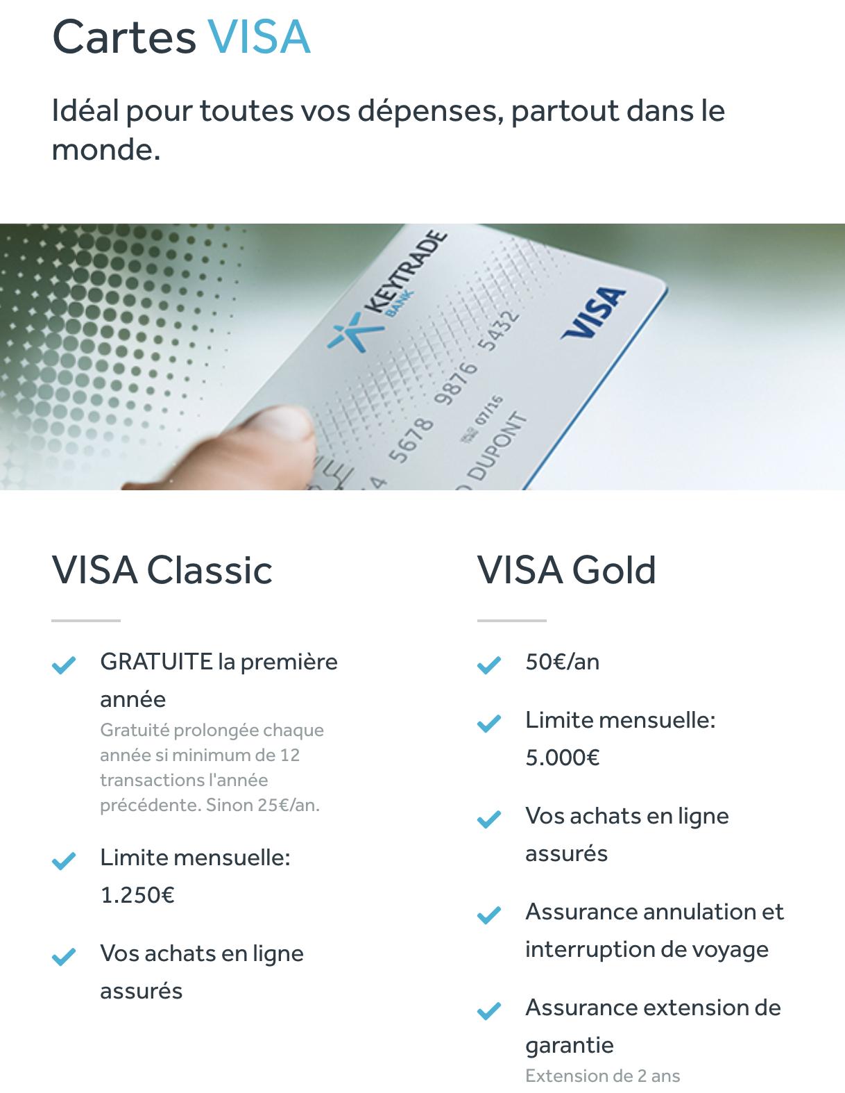 Keytrade visa